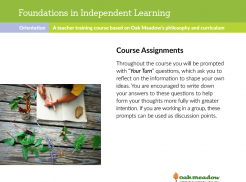 Foundations in Independent Learning: Course Assignments | Oak Meadow Bookstore