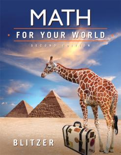 Math For Your World, Second Edition - Blitzer | Oak Meadow Bookstore