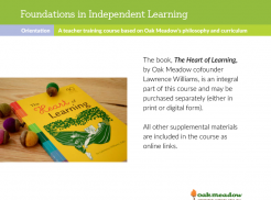 Foundations in Independent Learning with printed Heart of Learning | Oak Meadow Bookstore