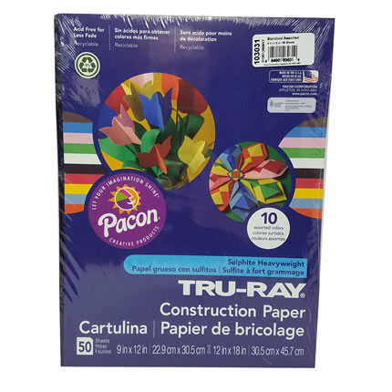 Construction Paper, Assorted Pack - Crafts & Supplies | Oak Meadow Bookstore