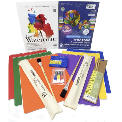 First Grade Craft Kit with Main Lesson Books, Watercolor Pad & Paint Brushes | Oak Meadow Bookstore