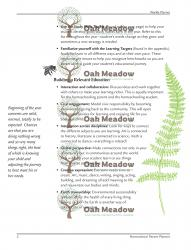 Internal Page of Oak Meadow Homeschool Planner | Oak Meadow Bookstore