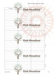 Sample Student Planner Pages | Oak Meadow Bookstore