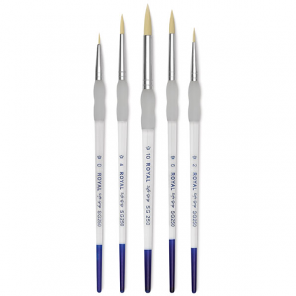 Round Brush Set (Sizes 0,2,4,6,10)