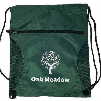 Oak Meadow Drawstring Backpack - Green | Oak Meadow Bookstore