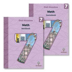 7th Grade Math Package (Includes Coursebook & Workbook) | Oak Meadow Bookstore