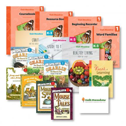 Oak Meadow First Grade Curriculum Package & Readers plus The Heart of Learning, Healthy Living from the Start