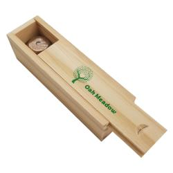 Oak Meadow 5 piece wooden dice set wooden box opened