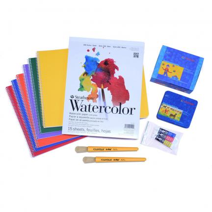 Kindergarten Craft Kit Featuring Main Lesson Books, Watercolors, and Beeswax Crayons