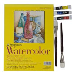 Watercolor Paint Kit with Strathmore Pad, Brushes & Paint | Oak Meadow Bookstore