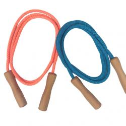 Jump Rope with Wooden Handles (for body length 37-45 inches)