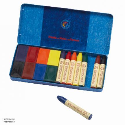 Stockmar Beeswax Crayon Assortment (8 crayons and 8 blocks) - Crafts & Supplies | Oak Meadow Bookstore