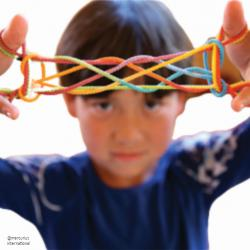 Sarah's Silks Rainbow String Games - rainbow colors - Gifts & Games | Oak Meadow Bookstore
