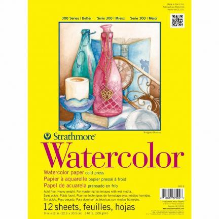 Strathmore Watercolor Pad (9 x 12) - 15 Sheets | Oak Meadow Bookstore